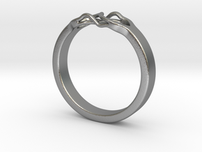 Roots Ring (26mm / 1,02inch inner diameter) in Natural Silver