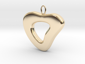 Ciondolo Heart in 14K Yellow Gold
