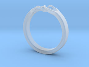 Roots Ring (22mm / 0,86inch inner diameter) in Smooth Fine Detail Plastic
