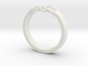 Roots Ring (23mm / 0,9inch inner diameter) in White Natural Versatile Plastic