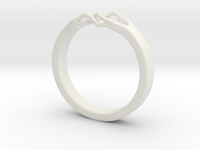 Roots Ring (24mm / 0,94inch inner diameter) in White Natural Versatile Plastic
