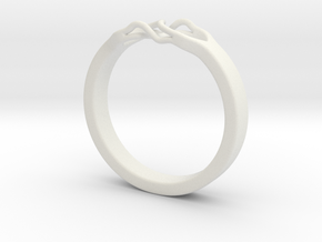 Roots Ring (28mm / 1,1inch inner diameter) in White Natural Versatile Plastic