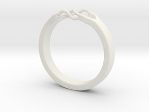Roots Ring (30mm / 1,18inch inner diameter) in White Natural Versatile Plastic