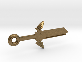 Zelda Master Sword House Key Blank - KW1/66 in Natural Bronze