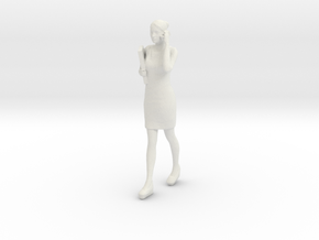 Half Scale Woman Walking in White Strong & Flexible
