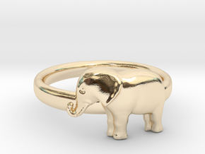 Elephant Ring in 14k Gold Plated Brass