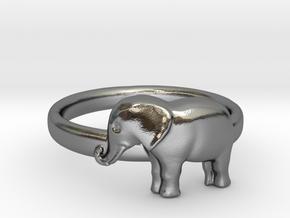 Elephant Ring in Polished Silver