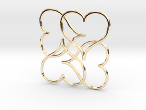 Heart Earring or Pendant in 14K Yellow Gold