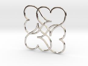 Heart Earring or Pendant in Platinum