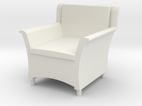 1:48 Wicker Armchair in White Strong & Flexible