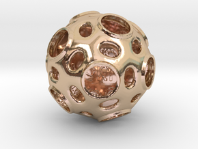 ZWOOKY Style 3412  -  Sphere in 14k Rose Gold Plated Brass