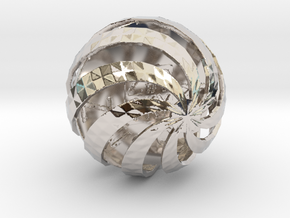 ZWOOKY Style 3411  -  Sphere in Rhodium Plated Brass