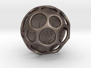 ZWOOKY Style 3413  -  Sphere in Polished Bronzed Silver Steel