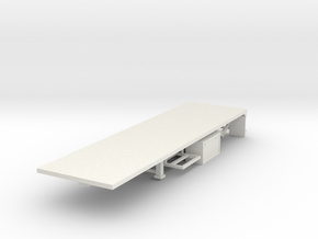 000118 Flatbed trailer USA HO 1:87 Typ B in White Natural Versatile Plastic: 1:87 - HO