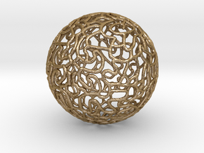 Ornament Ball in Polished Gold Steel