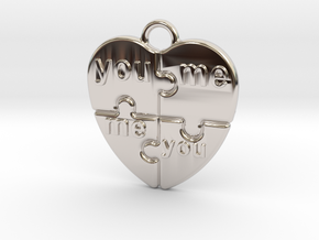 You And Me in Rhodium Plated Brass