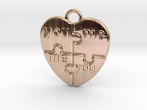 You And Me in 14k Rose Gold Plated Brass