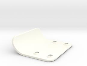 Bumper 1.0 for RC10T nose in White Processed Versatile Plastic