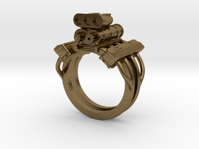 V8 ENGINE RING in Natural Bronze: 13 / 69