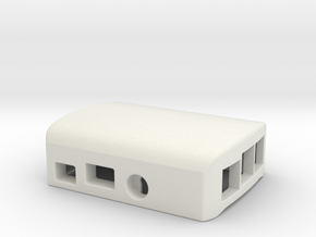 Raspberry PI B+ Top Closed Part case / enclosure in White Natural Versatile Plastic