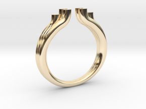 Tres 2 in 14k Gold Plated Brass