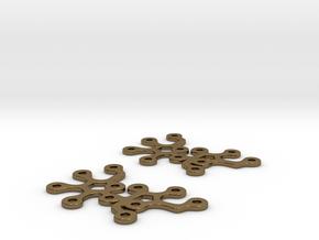 Sucrose earrings in Polished Bronze