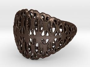 Toroid Ring in Matte Bronze Steel