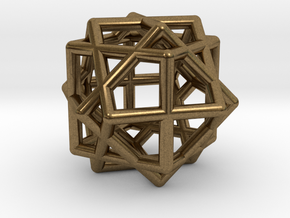 Compound of Three Cubes in Natural Bronze
