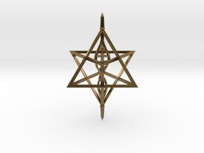 Merkaba Spinner DNA - 6cm in Natural Bronze