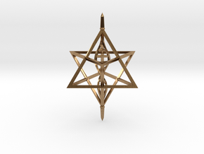 Merkaba Spinner DNA - 6cm in Natural Brass
