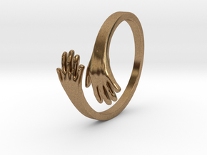 Hand Ring in Natural Brass