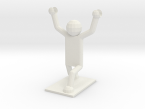 Weightlifter Pencil Holder in White Natural Versatile Plastic