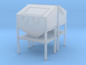 1/64 Sand Blasting Cabinet 2 Pack in Smooth Fine Detail Plastic