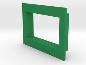 Square .36 Voltmeter Bezel in Green Processed Versatile Plastic