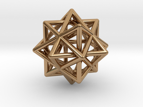 Compound of Three Octahedra in Polished Brass