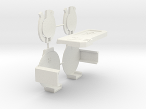 Broadcaster Speakers and Chestplate in White Natural Versatile Plastic