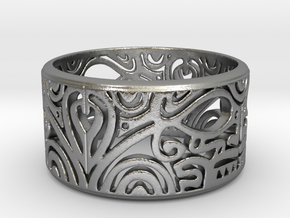 MAORI in Natural Silver