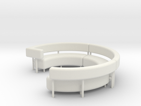 1:48 Circular Couch/Sofa Sectional Complete in White Natural Versatile Plastic