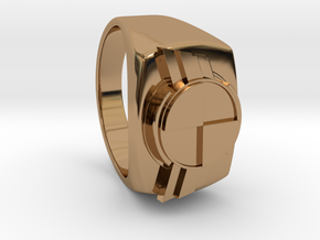 "Test Squadron - Signet Ring - Version2.0 ""Size 9"" in Polished Brass"
