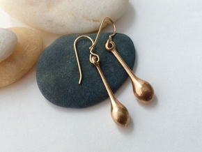 Teardrop Earrings - Bronze Age Earrings for Today in Natural Bronze