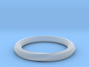Heptagon Ring in Smooth Fine Detail Plastic