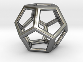 DODECAHEDRON (Platonic) in Premium Silver