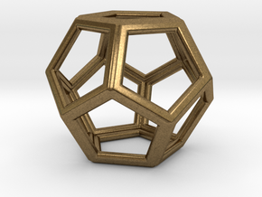 DODECAHEDRON (Platonic) in Natural Bronze