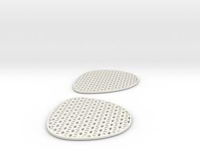 Hexalens C - Both Lenses in White Natural Versatile Plastic