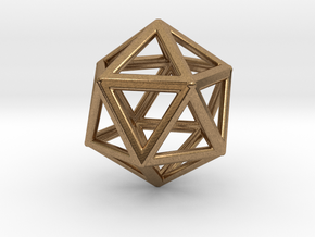 ICOSAHEDRON (Platonic) in Natural Brass