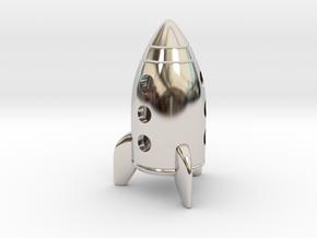 Wazir-Rider (Rook) - [1,0] Stellar in Rhodium Plated Brass
