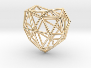 Metal Heart pendant in 14K Yellow Gold