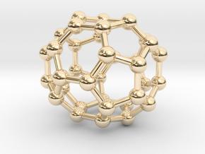 0043 Fullerene c36-15 d6h in 14K Yellow Gold