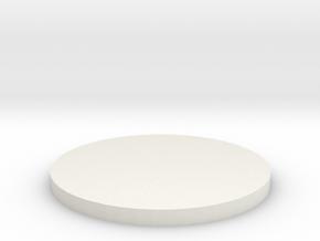 'N Scale' - 18' Diameter Bin Foundation in White Natural Versatile Plastic