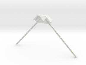 Dual Antenna Mount in White Natural Versatile Plastic